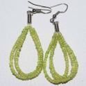 Boucle d'oreille perle verte