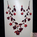 Parure strass rouge