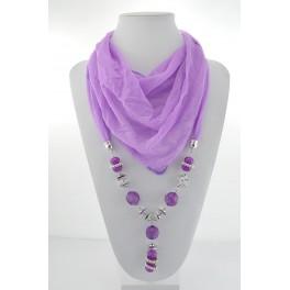 Collier foulard fantaisie violet