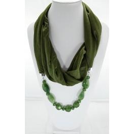 Collier foulard fantaisie vert