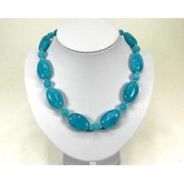 Collier fantaisie bleu turquoise